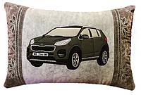 Подушка автомобильная сувенир в машину с изображением Вашего авто вышивка