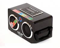 Колонка Star SR-8935: радио, USB, SD, MP3-проигрыватель, пульт ДУ, работа от аккумулятора, переходники