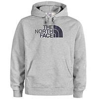 Худи The North Face серое с логотипом, унисекс (мужское,женское,детское)