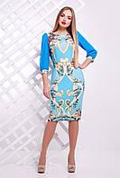 Платье  Золотой узор Платье Лоя-3Ф (шифон) д/р, фото 1