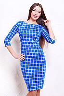 Платье  Клетка синяя Платье Лоя-1Ф д/р