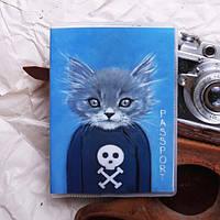 Обложка на паспорт «Кот в свитере» kbp-25