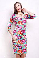 Платье  Пионы 4 Платье Вики-Д д/р