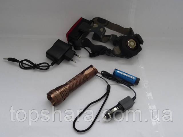 фонарик тактический налобный и ручной BL-6811 GREE 1000W универсальный