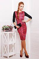 Платье GLEM Питон красный Платье Саламандра д/р