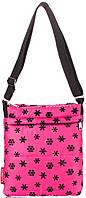 Яркая сумка -планшет из болоньи POOLPARTY pool-58-brown pool-59-snow-pink розовый