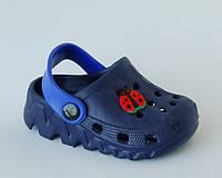 Шалунишка арт.LW819-2 кроксы т.синий   Кроксы/ пляжная обувь для мальчиков.