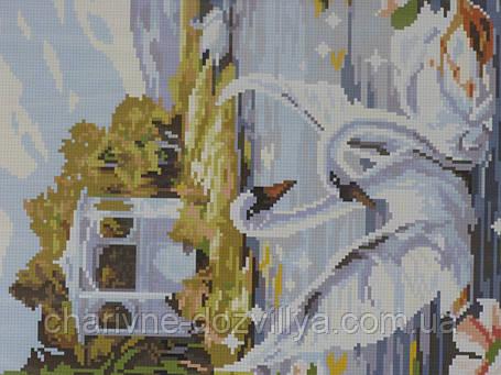Набор алмазной вышивки Лебединая пара, фото 2