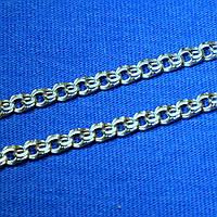 Мужская цепочка Бисмарк из серебра на шею 55 см