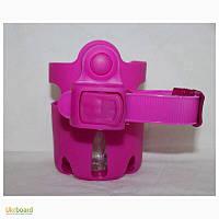 Подстаканник на коляску розовый