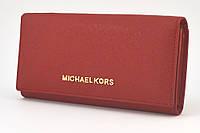 Кожаный женский кошелек Michael Kors 505 (red)