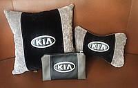 Подушка подарок сувенир комплект вышиванка с логотипом автомобиля