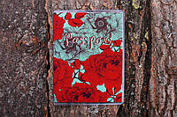 Обложка на паспорт «Пионы красные с синим» kbp-36