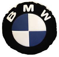 Автомобильная подушка круглая с логотипом bmv бмв 35см