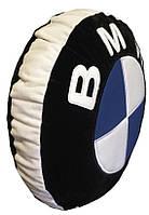 Автомобильная подушка круглая в виде знака логотипа bmv бмв 35см