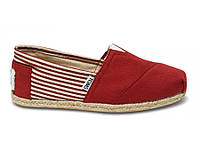 Женские TOMS Red University Rope Sole Women's Classics, фото 1
