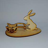 Кролик с тележкой подставка для пасхальных яиц