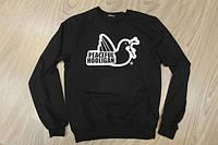 Свитшот Peaceful Hooligan черный с логотипом,унисекс (мужской,женский,детский)