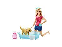"Кукла Барби Купание щенка ""Уход за питомцами"" (Barbie Splish Splash Pup Playset)"