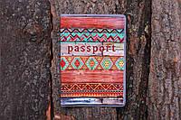 Обложка на паспорт «Узор на досках» kbp-45