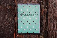 Обложка на паспорт «Мопсики» kbp-48