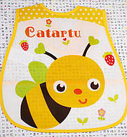 Слюнявчики с карманом Пчелка