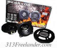 Автомобильные динамики 10см Megavox Mac-4778l. Только Оптом! В наличии!Лучшая цена!