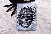 Обложка на паспорт «Череп с цветами» kbp-52