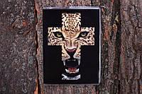 Обложка на паспорт «Тигр в кресте» kbp-54