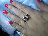 """Кольцо """"изумрудный цветок"""", фото 5"""