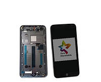 Дисплей для мобильного телефона Meizu MX4, черный, с тачскрином, с рамкой