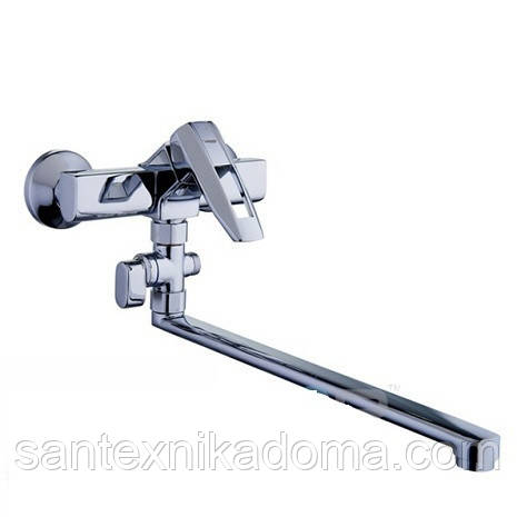 Змішувач для ванни довгий гусак, Z63-NOF6 ZEGOR (TROYA)