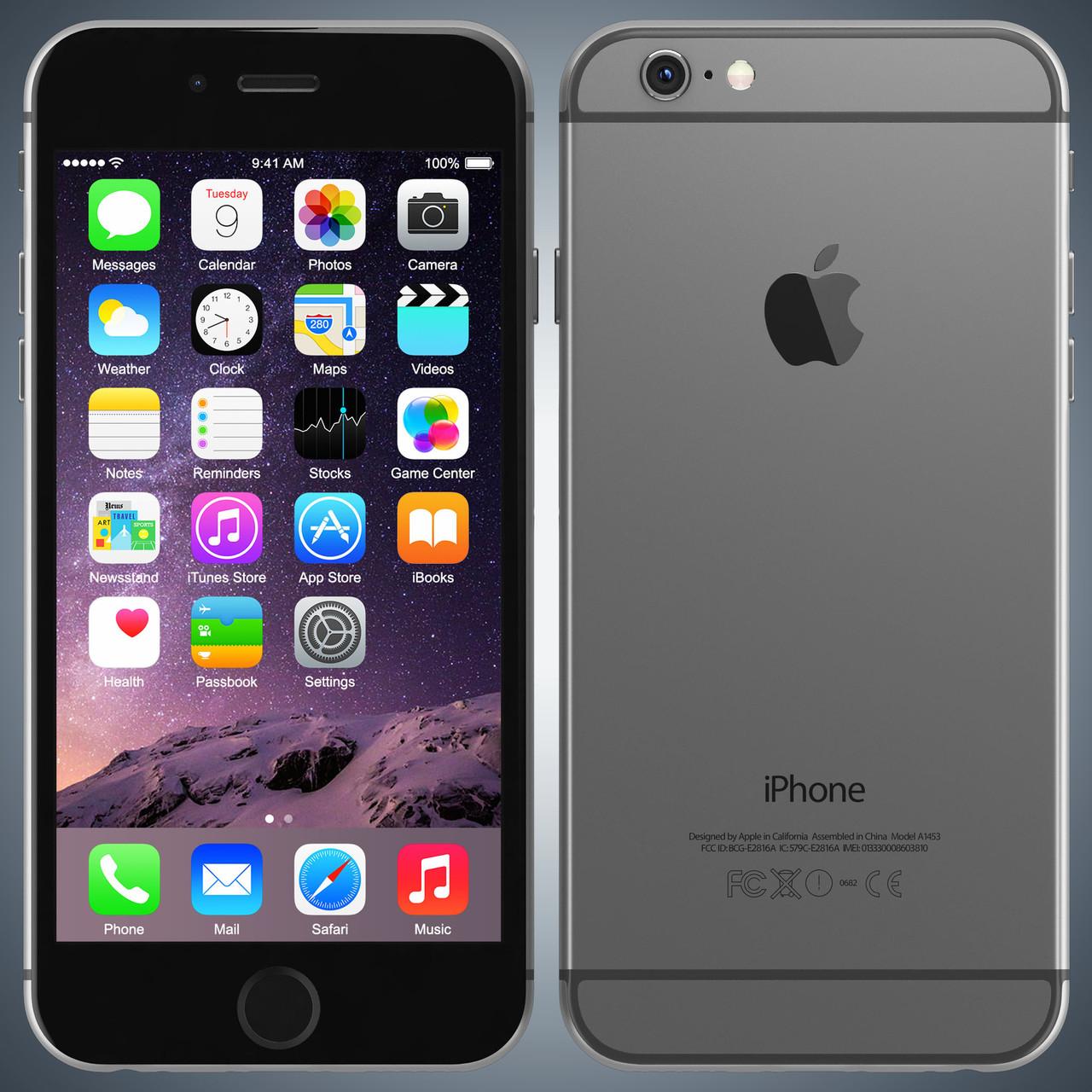 Original Apple iPhone 6 16Gb Space Gray Neverlock refurbished