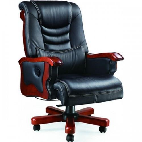 Кресло Монреаль, кожа черная (675-B+PVC)