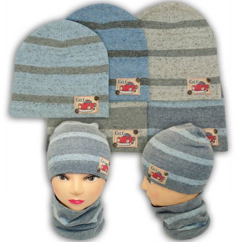 Вязаная шапка с хомутом, для мальчика, KX3B