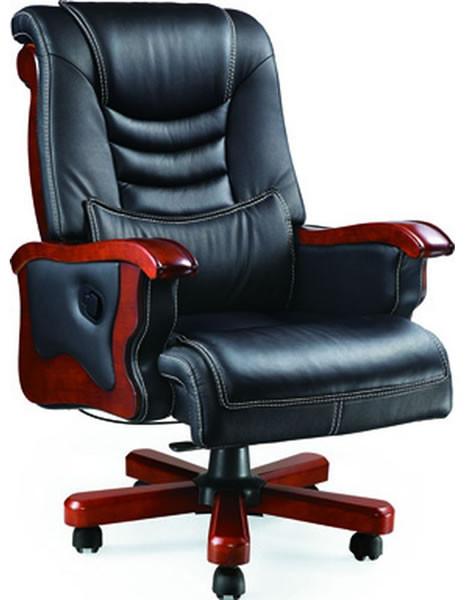 Кресло Монреаль HB тм АМF Кожа Люкс комбинированная Чёрный (675-B+PVC).