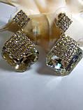 Сережки анжеліна нові з великими каменями, фото 5