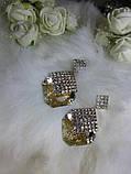 Сережки анжеліна нові з великими каменями, фото 3