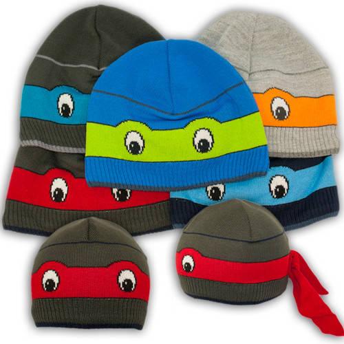 Вязаная шапка с изображением черепашки ниндзя, для мальчика, K412