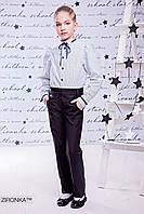 Классические школьные брюки для девочки 8523-1