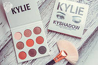 Палетка теней Kylie Cosmetics Kyshadow The Burgundy Palette (silver), фото 1