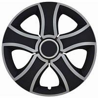 Колпаки колес BIS MIX Радиус R13 (4шт)black-silver Jestic