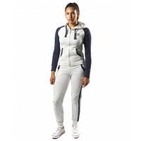 Спортивный костюм женский белый/голубой