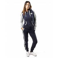 Спортивный костюм женский серый/голубой