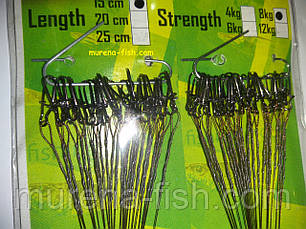 Рыболовные поводки Predator 15 см (50шт) Stainless Steel Leaders Японский материал Предатор, фото 2