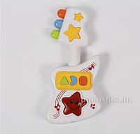 Игрушка для детей музыкальная развивающая Гитара Lindo A 658  цвет - белый с желтым