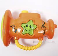Игрушка для детей музыкальная развивающая Туба Lindo A 659  цвет - оранжевый