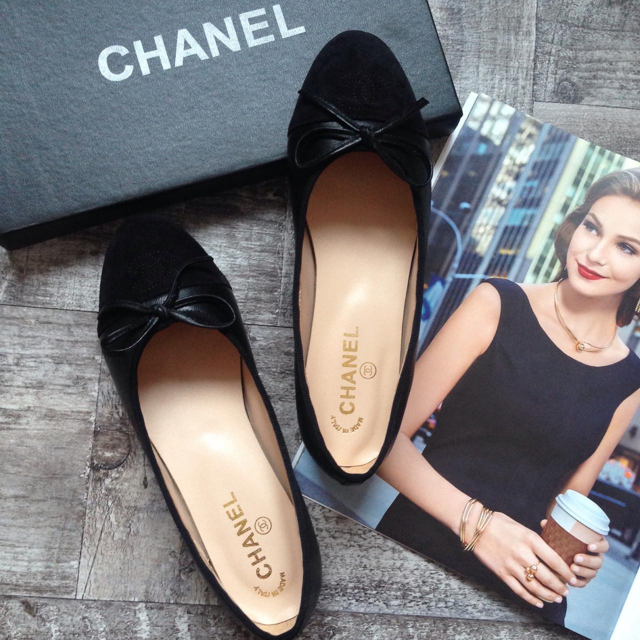 fad9455d8edf Балетки Chanel кожаные женские мокасины Шанель - butic case в Киеве