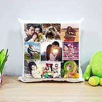 Плюшевая подушка (коллаж на 9 фото)