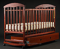 Детская кроватка Наталка Темная (Ясень) с ящиком.